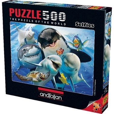 Anatolian  Puzzle 500 Parça Derinlerde Selfie 3585 Renkli